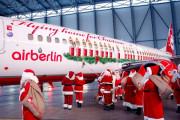 Air Berlin запустила традиционный праздничный самолет «Веселый Санта»