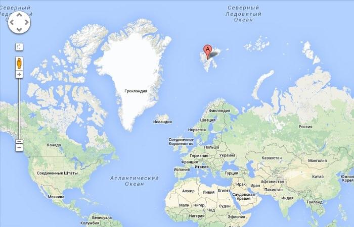 На острове Западный Шпицберген архипелага Шпицберген расположен российский шахтерский поселок Пирамида