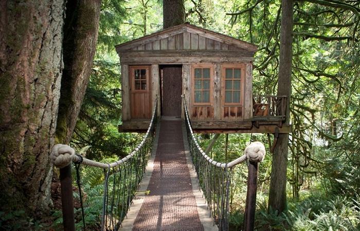 В Испании открыли отель на деревьях