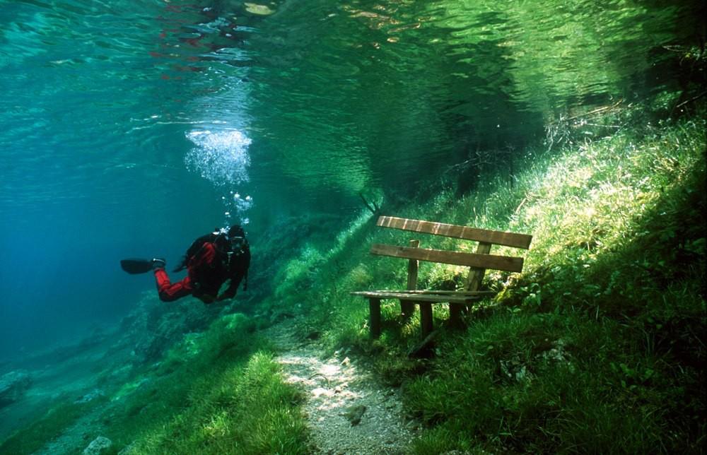 Парк на дне Зеленого озера